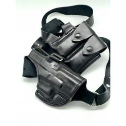 Glock 19 Shoulder Rig Black
