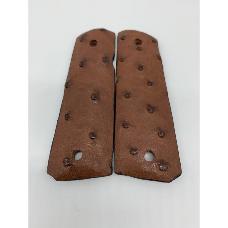 1911 Government/Commander Grips Ostrich Brown