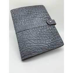 Gray Cape Buffalo Leather Portfolio