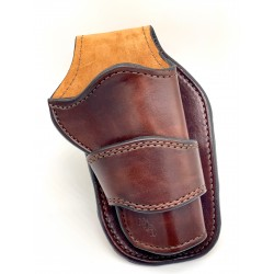Cowboy Style Single Action Leather Holster Russet Brown