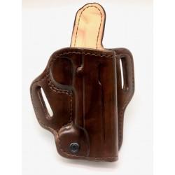 Leather Pancake Design Holster Russet Brown